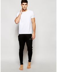 Jack & Jones - Black Cuffed Joggers In Slim Fit for Men - Lyst