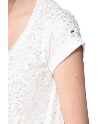 Hilfiger Denim | White Short Sleeve Top | Lyst