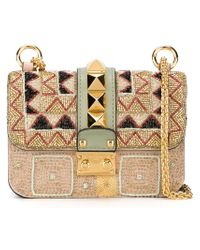 Valentino - Metallic 'glam Lock' Sequin Shoulder Bag - Lyst
