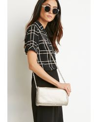 Forever 21 | Metallic Chained Faux Leather Crossbody | Lyst