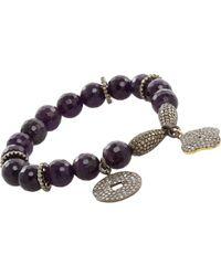 Carole Shashona | Black Essence Lotus Bracelet | Lyst