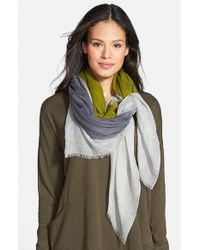 Eileen Fisher - Green Wool & Silk Scarf - Lyst