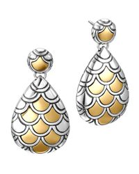 John Hardy | Metallic Naga Gold & Silver Pearl-shape Earrings | Lyst