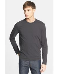 James Perse | Gray Long Sleeve Crewneck T-shirt for Men | Lyst