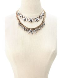 Forever 21 | Pink Faux Gemstone Necklace Set | Lyst