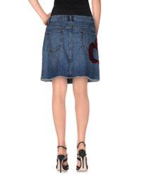 Marc Jacobs - Blue Denim Skirt - Lyst
