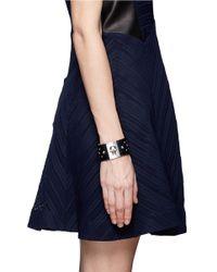 Alexander McQueen - Black Studde Leather Bracelet - Lyst