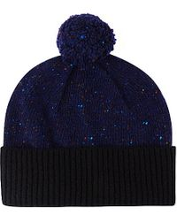 Paul Smith | Blue Block Knit Wool Beanie for Men | Lyst