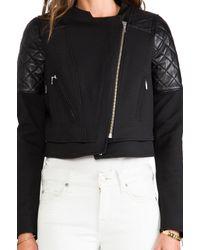 Nicholas - Ponti Quilted Jacket in Black - Lyst