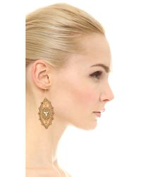 Miguel Ases - Metallic Allison Earrings - Gold - Lyst