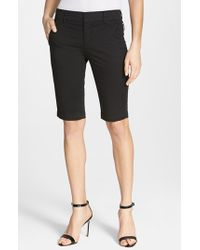 Vince | Black Side Buckle Bermuda Shorts | Lyst