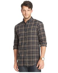 G.H. Bass & Co. | Big And Tall Black Fireside Flannel Plaid Long-sleeve Shirt for Men | Lyst