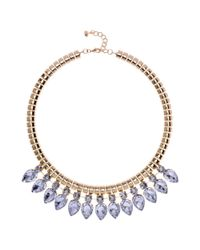 Ted Baker | Blue Emari Crystal Chain Necklace | Lyst