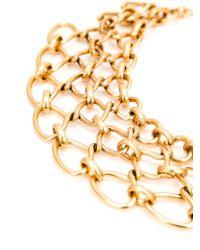 Oscar de la Renta | Metallic Interlocking Chain Necklace | Lyst
