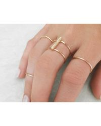 Vrai & Oro | Pink Double Stacked Diamond Line Ring | Lyst