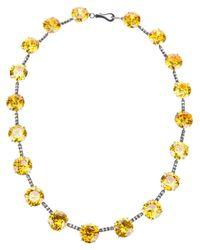 Bottega Veneta - Yellow Zircon Necklace - Lyst