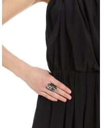 Annelise Michelson | Gray Gunmetal Double Draped Ring | Lyst