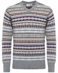 Jules B - Multicolor Cashmere Fair Isle Sweater for Men - Lyst
