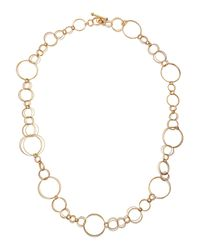 Roberto Coin | Metallic 18k Gold 34 Textured Multicircle Link Necklace | Lyst
