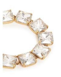J.Crew - Metallic Crystal Cube Bracelet - Lyst