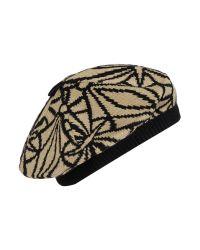 Biba | Black Deco Knit Beret Hat | Lyst