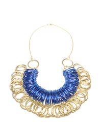 Kirsty Ward - Blue Alu Loops Brass Rings Pendant  - Lyst