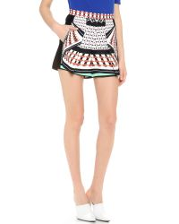 Clover Canyon - Green Twist Scarf Shorts - Lyst