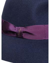 Borsalino | Blue Wool Felt Large Brim Hat | Lyst