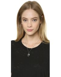 Sam Edelman - Metallic Multi Tear Pendant Necklace - Rhodium - Lyst