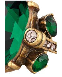 Oscar de la Renta - Green Goldplated Crystal Ring - Lyst