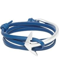 Miansai - Blue Half Anchor Cuff Wrap Bracelet for Men - Lyst