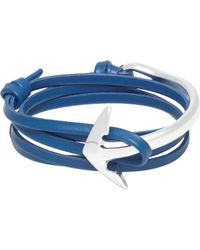 Miansai | Blue Half Anchor Cuff Wrap Bracelet for Men | Lyst