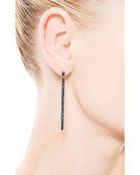 Yossi Harari - Lilah Stick Pave Blue Sapphire Earrings - Lyst