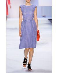 Monique Lhuillier | Blue Ottoman Organza Dress | Lyst
