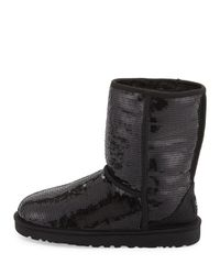 UGG | Black Sequined Sparkles Wool-lined Boot | Lyst