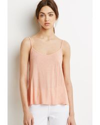 Forever 21 - Pink Ladder Cutout Cami - Lyst