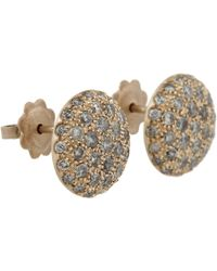 Roberto Marroni - Metallic Grey Diamond Baby Sand Stud Earrings - Lyst
