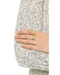 Elizabeth and James - Metallic Kadin Ring - Lyst
