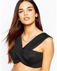 Lipsy - Metallic Fleur East By Silver Curb Chain Collar Necklace - Lyst
