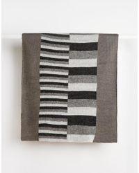 ASOS | Black Blanket Scarf In Block Stripe for Men | Lyst