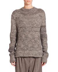 The Row | Gray Rane Tweed Knit Sweater | Lyst