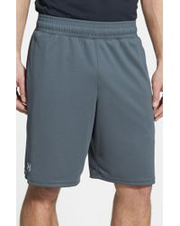 Under Armour | Gray 'reflex' Heatgear Mesh Knit Shorts for Men | Lyst