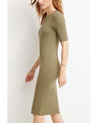 Forever 21 - Green Midi T-shirt Dress - Lyst