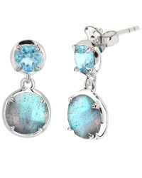 Dinny Hall | Blue Silver Labradorite Sheba Double Drop Earrings | Lyst