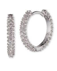 Judith Jack | Metallic Pave Hoop Earrings | Lyst