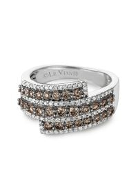 Le Vian | Brown And White Diamond And 14k White Gold Ring, 1.24 Tcw | Lyst
