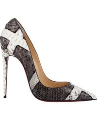 Christian Louboutin | Gray So Kate Pumps | Lyst