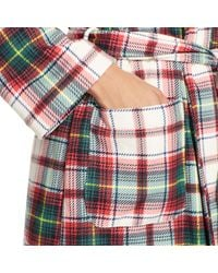 Ralph Lauren - Pink Plaid Shawl-collar Robe - Lyst