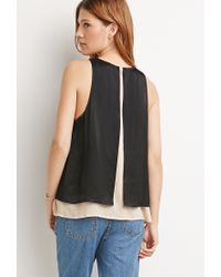 Forever 21 | Black Contemporary Layered Trapeze Top | Lyst