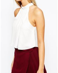 Fashion Union | Natural Turtle Neck Halter Top | Lyst